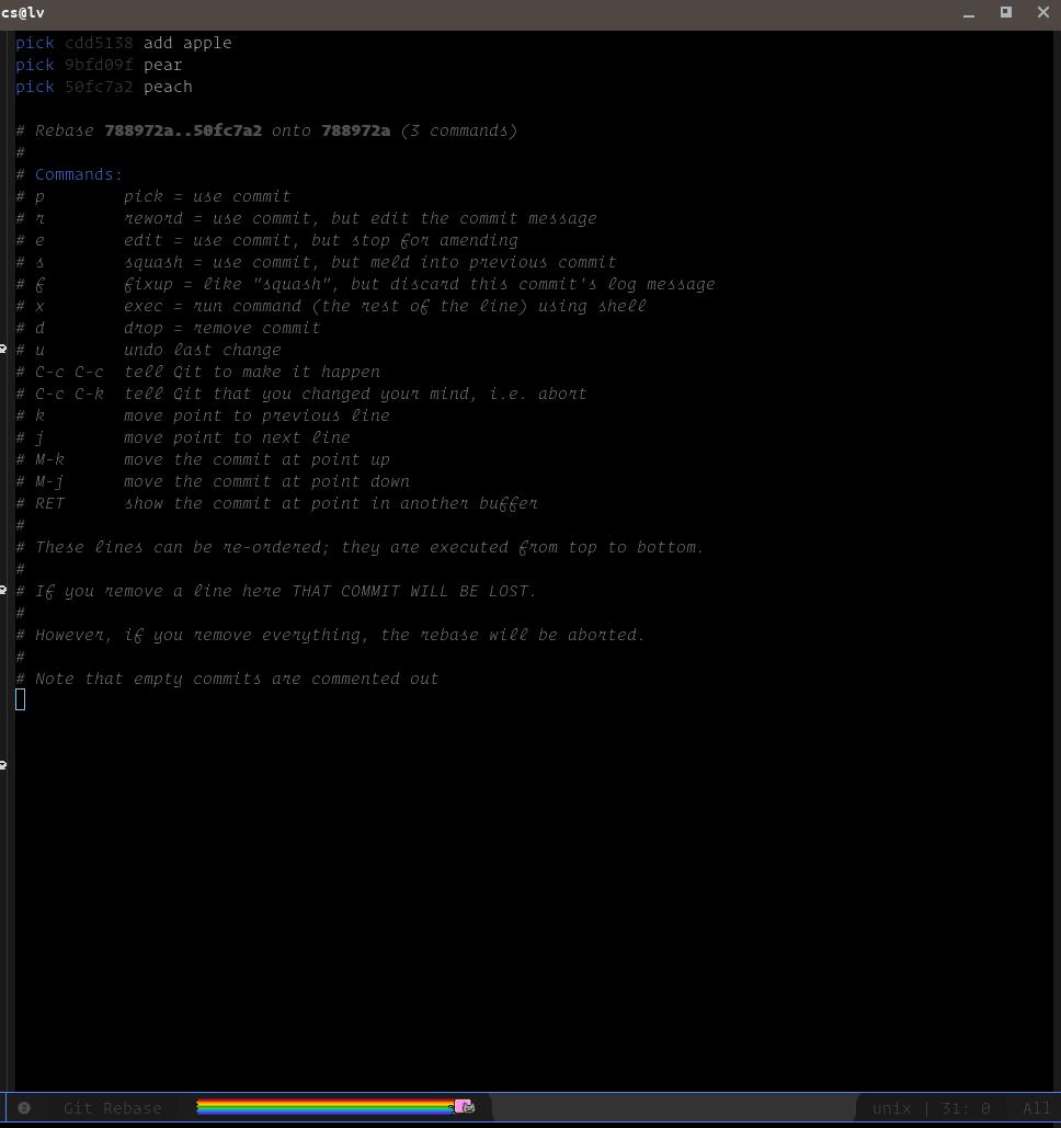 Magit tutorial - Rebase (Part I)